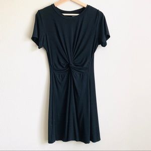 Francesca's Black Twisted Front Dress - LARGE